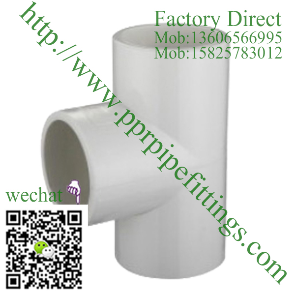 ASTM SCH 40 PVC fittings TEE