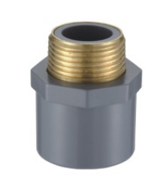 MALE COUPLING (COPPER THREAD) ASTM CPVC SCH80 FITTINGS