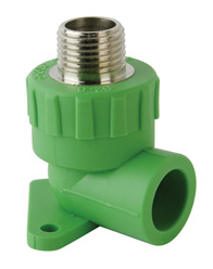 Male threaded elbow with wall plaste