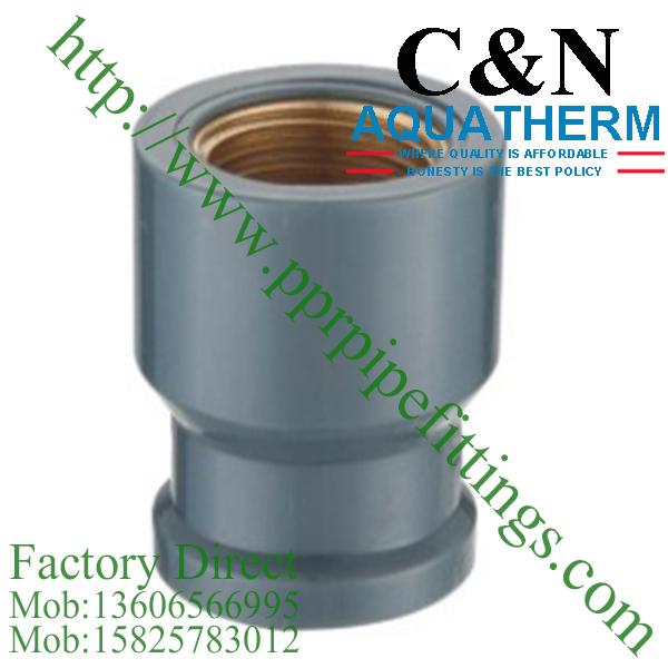 NBR5648 PVC Pipe Fittings  female coupling copper thread