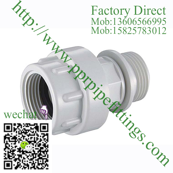 PVC BS4346 PIPE FITTINGS MALE COUPLING UNION