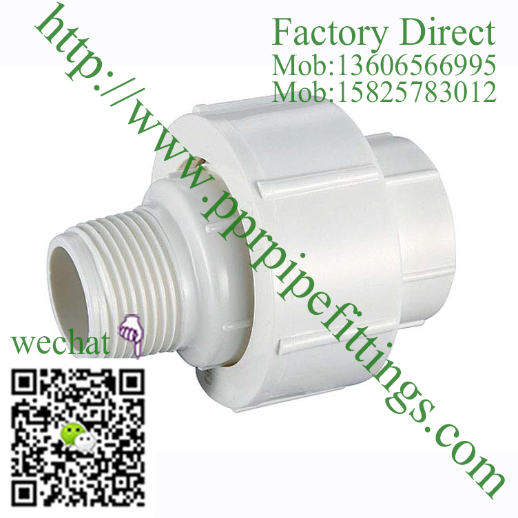 PVC BS4346 PIPE FITTINGS MALE UNION