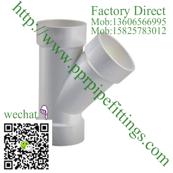 PVC DWV Fittings 45° Wye