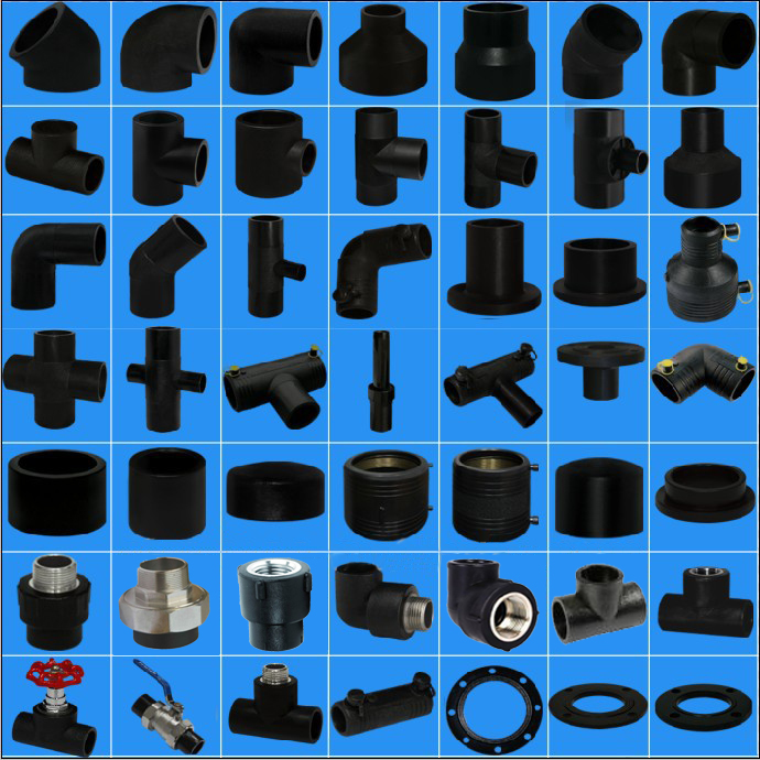 Polyethylene pipe fittings hdpe pipe for water supply