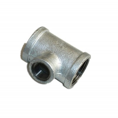 banded hot dipped galvanized cast iron reducing tee fittings
