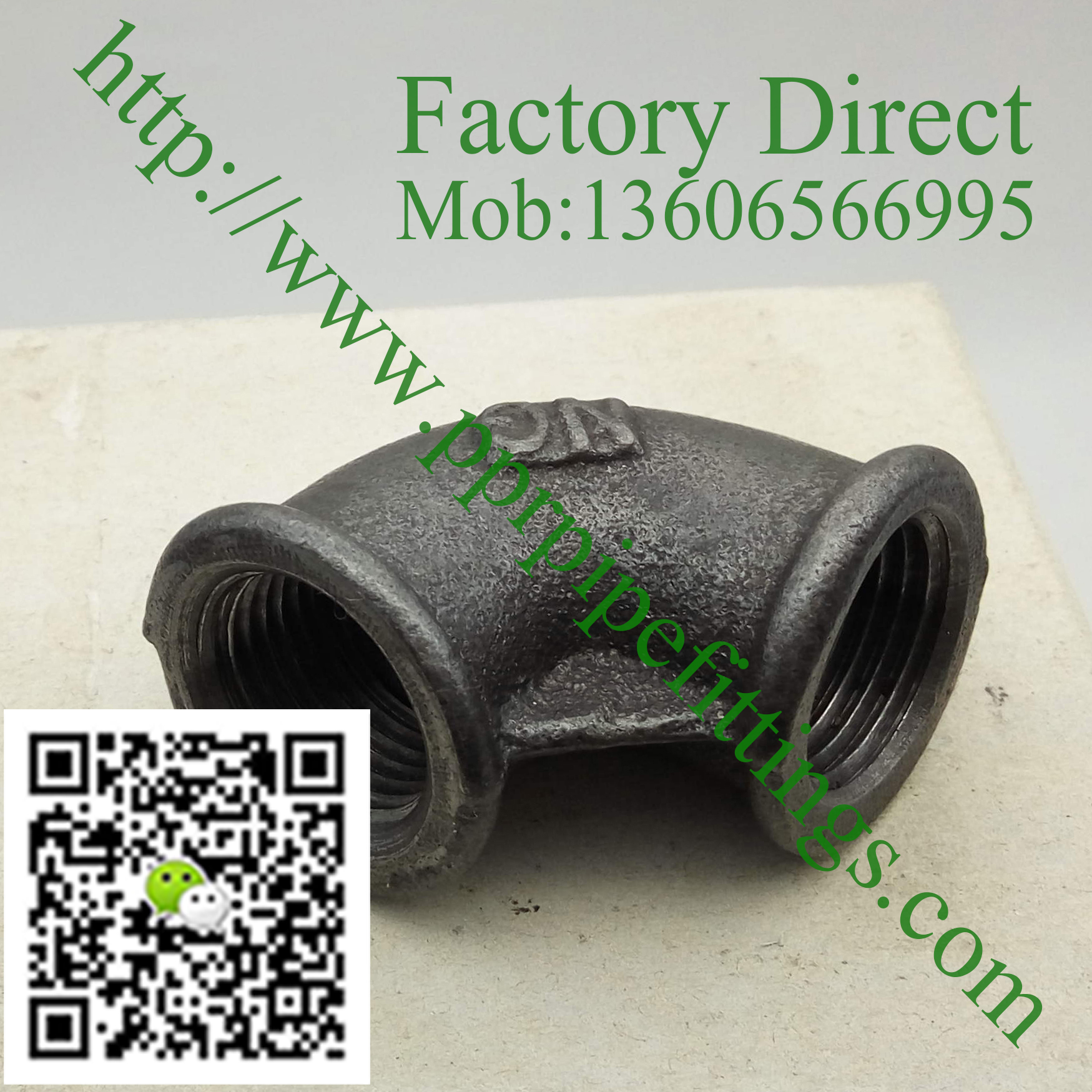 black malleable cast iron elbow fittings