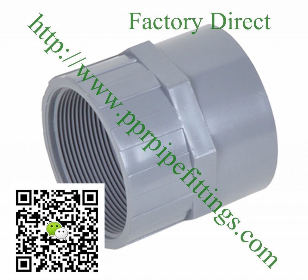 bs en 1452 pvcu pipe fittings female adapter
