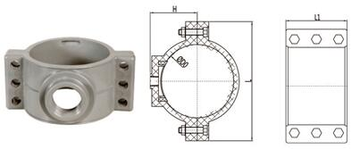 bs en 1452 pvcu pipe fittings saddle clamp