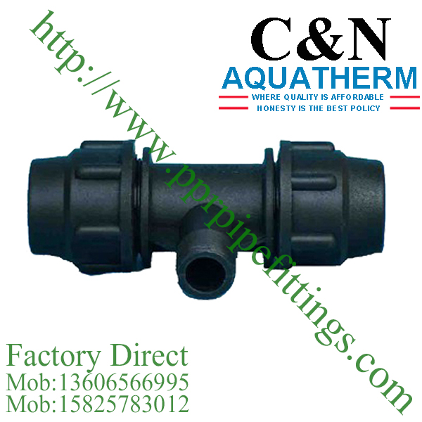 hdpe compression fittings male tee