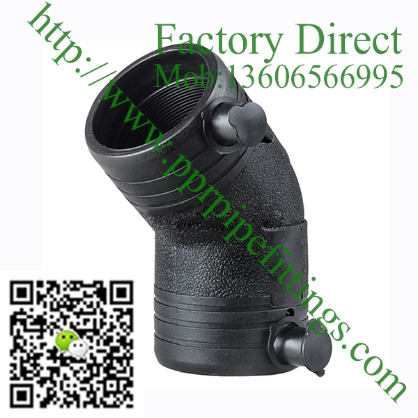 HDPE 45º Elbow Electro Fusion pipe fitting for water
