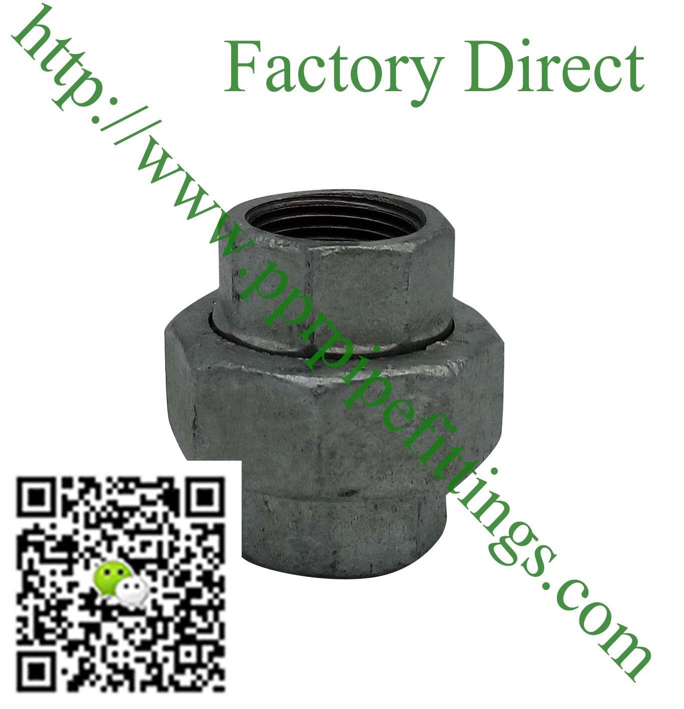 hot dipped beaded cast iron fittings, union