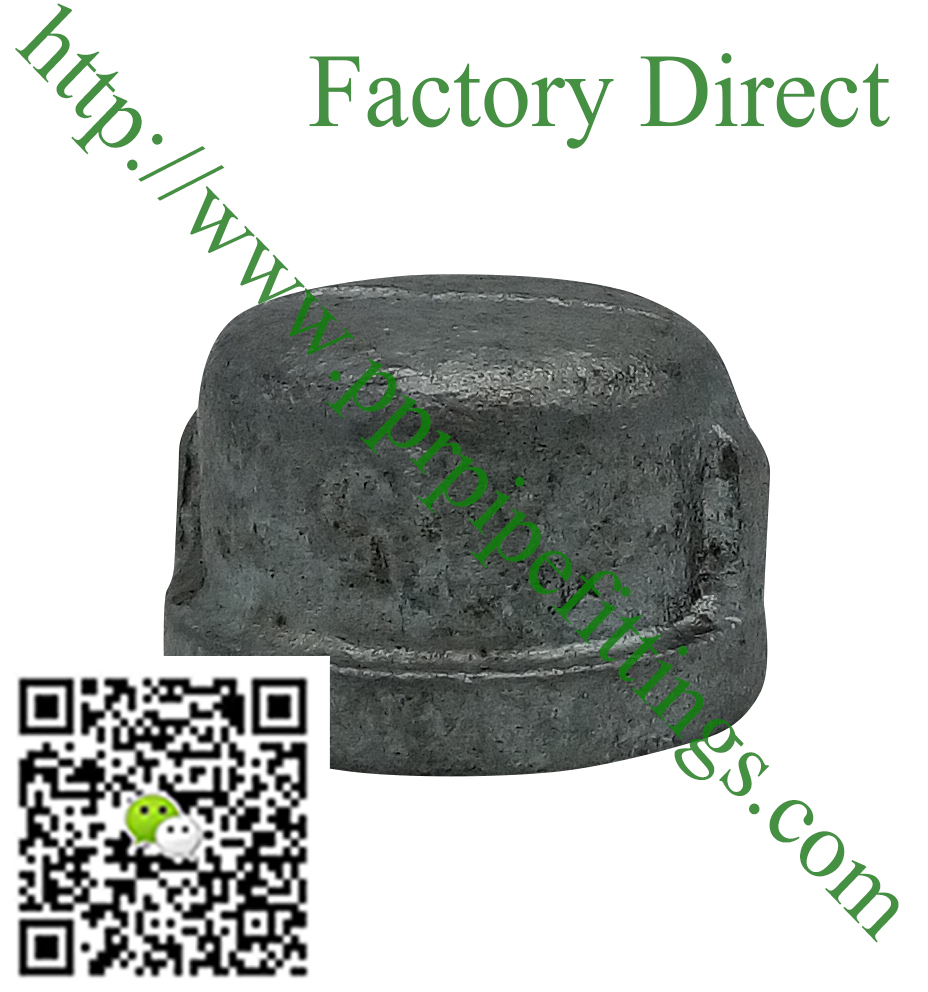 hot dipped beaded cast iron fittings, end cap