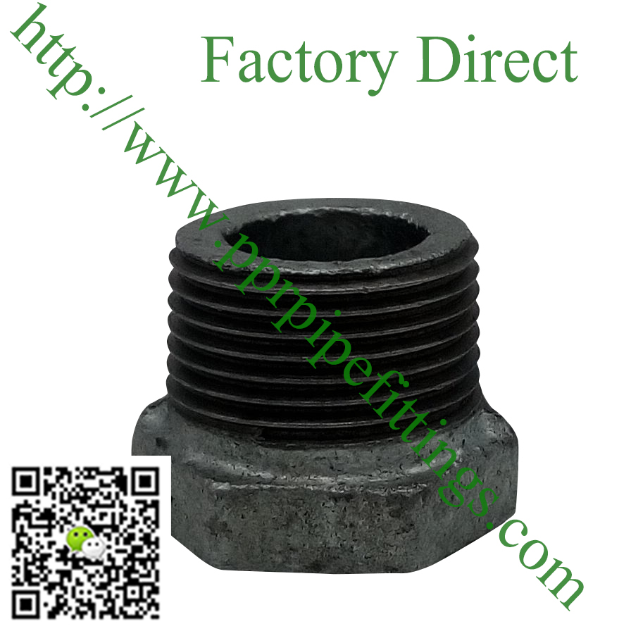 hot dipped beaded cast iron fittings reduce bushing