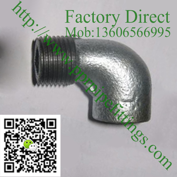 male elbow galvanized iron fittings plain hot dipped
