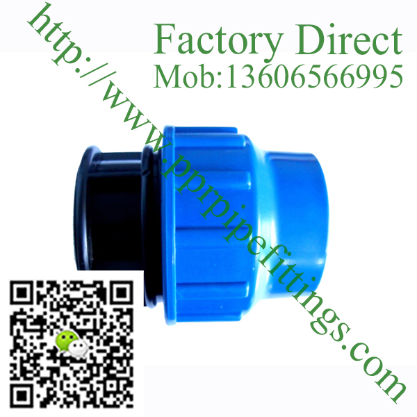 pp compression fittings end cap