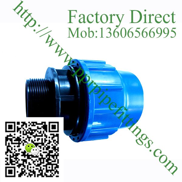 pp compression fittings male couping