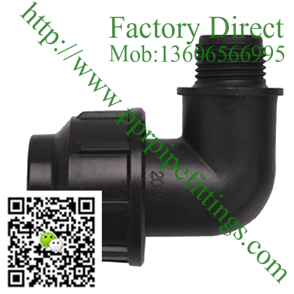 pp compression fittings male elbow