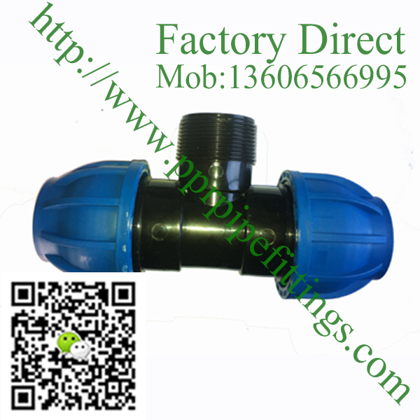 pp compression fittings male tee