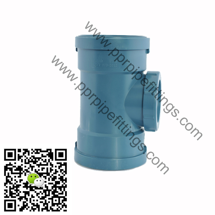 pp silent drainage pipe fittings inspection tee