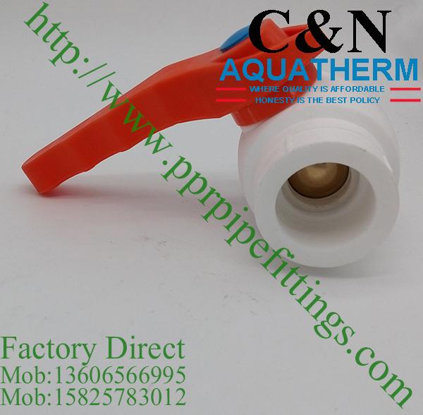 ppr brass ball valves factory direct