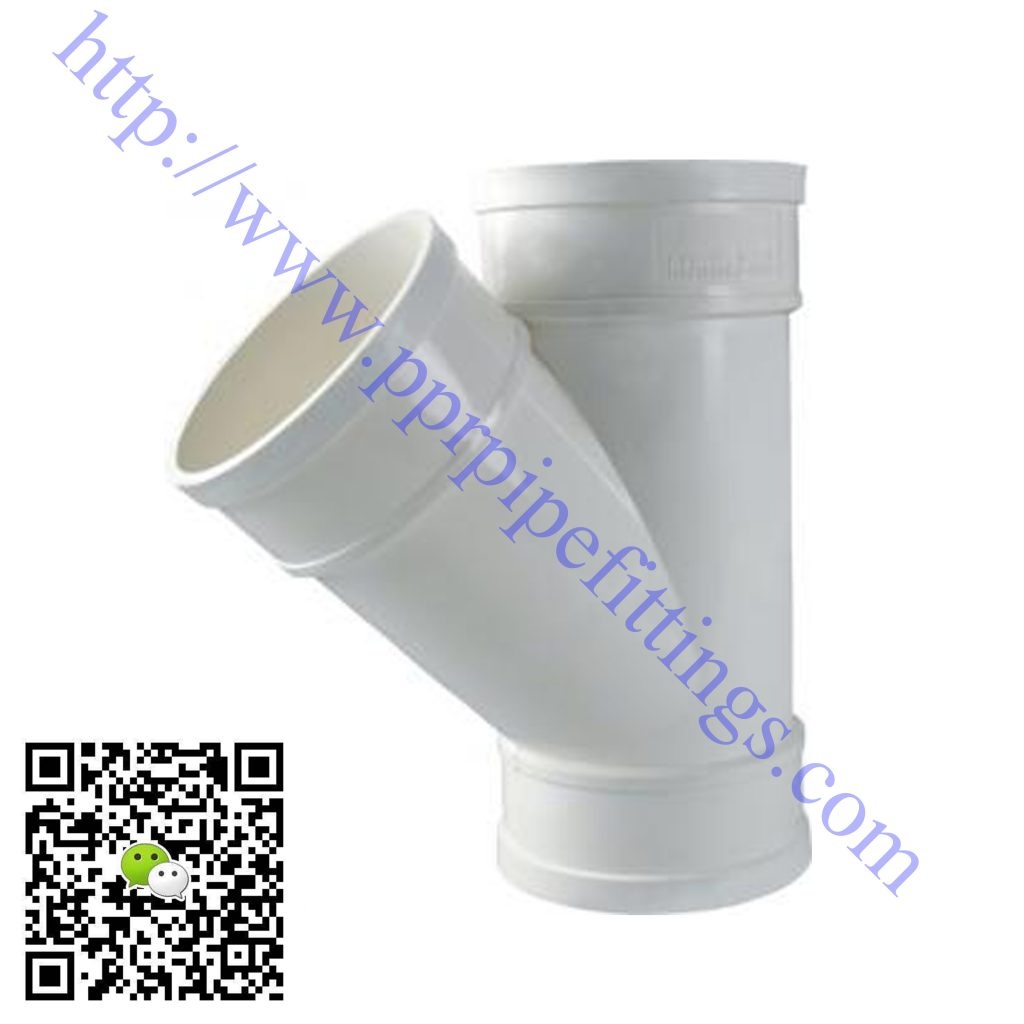 pvc-u pipe fittings Y tee