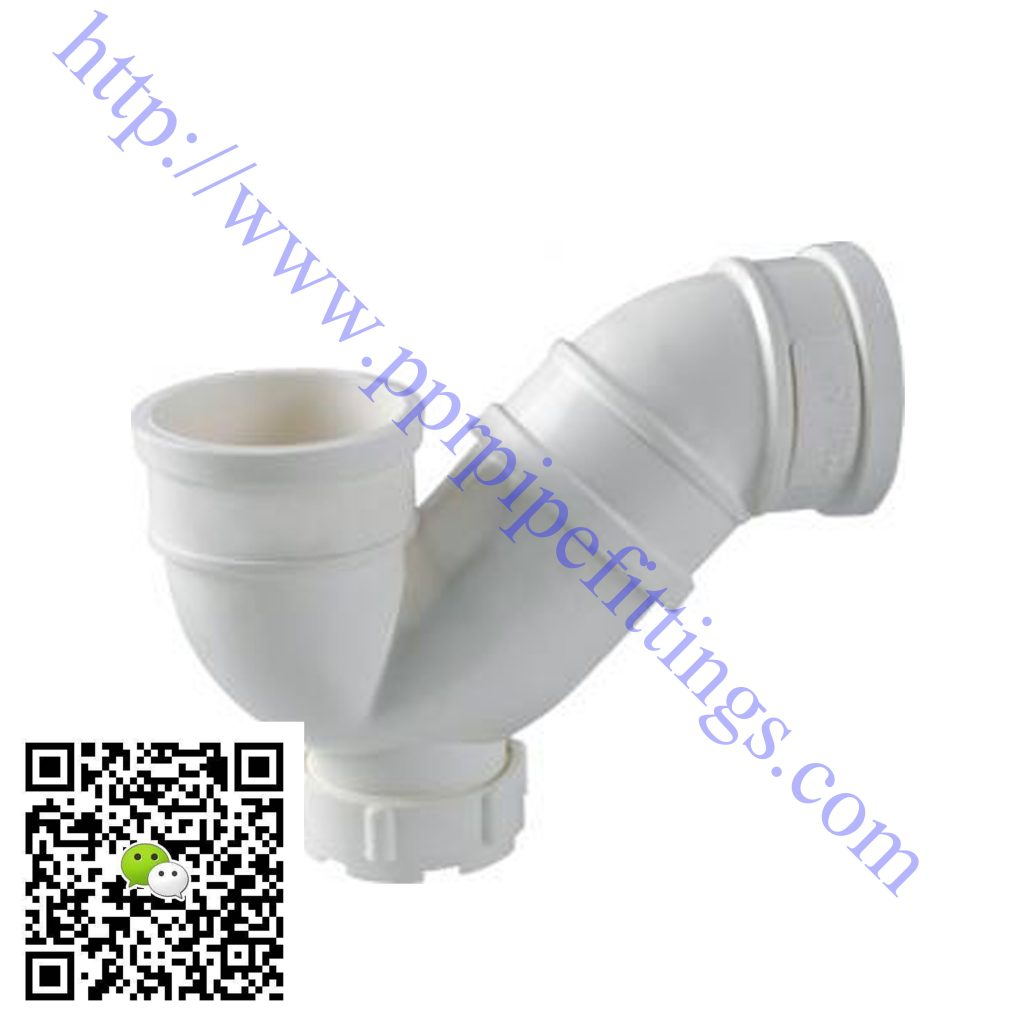 pvc-u pipe fittings p-trap with inspection