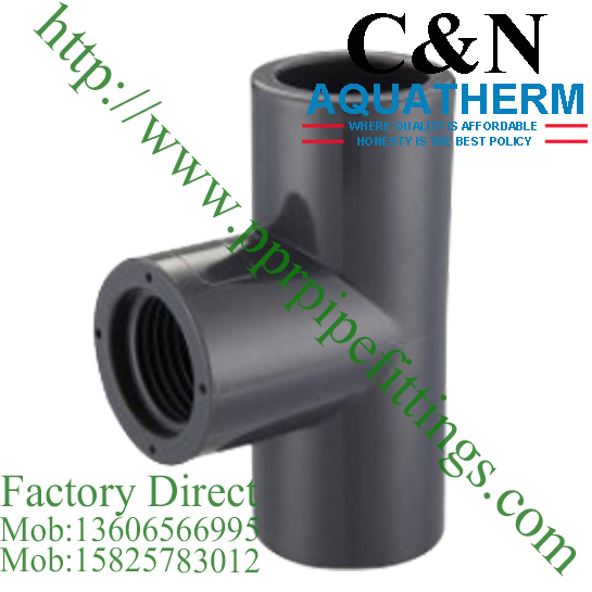 sch 80 pvc fittings female tee