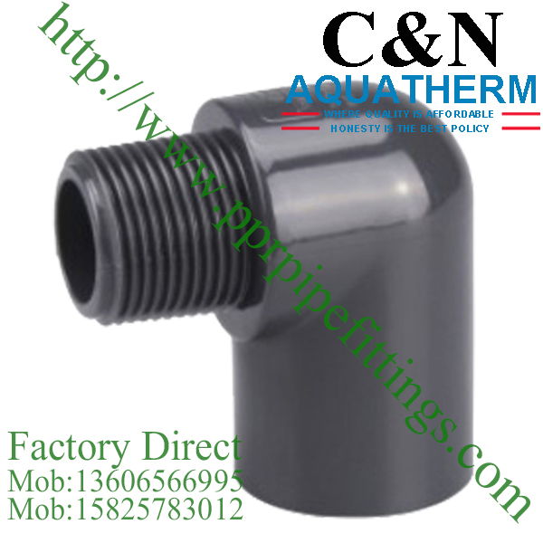 sch 80 pvc fittings male elbow
